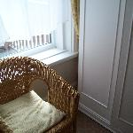 Chair and wardrobe