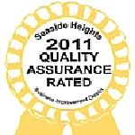 GOLD Quality Assurance 2011 from Seaside Heights Tourisum