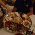 le plat de desserts