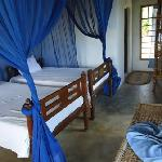 Double rooms with double beds