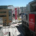 view of mall from pool deck