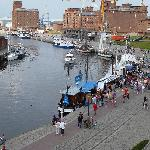 New Orleans Zimmeraussicht auf den Hafen von Wismar
