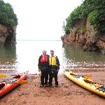 Kayaking fun in St. Martins, New Brunswick