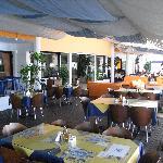 The restaurant area.