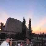 sunset behind Amphitheatre