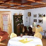 Breakfast room full of family history...
