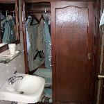 Bathroom and closet space