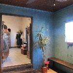 Changing room & gateway to Rasa Juice Bar