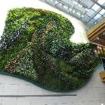 The vertical garden in the lobby