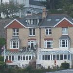 The hotel from the river Dart.