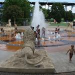 The fountains at Coolidge Park