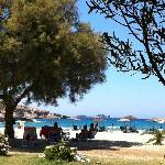 beach from the taverna