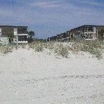 View of the villas from the beach