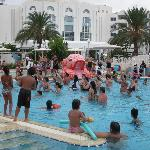 Pseudo aquagym dans la piscine