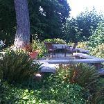 Garden overlooking Puget Sound
