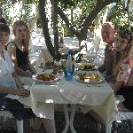 our family having lunch