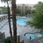 View of pool from my room