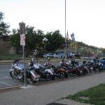 Plenty of bike parking front and back