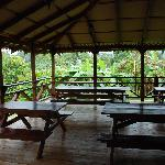 the dining area with gorgeous view every morning