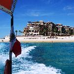 Villa del Arco from the parasailing boat