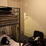 """This room, a """"private"""" room, cost 80 CAD / £50 a night. It was hot, had no air conditioning, and"""