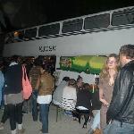 bar inside an abandoned bus