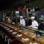 Sushi bar at Nobu Vega