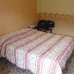 Doppelbett und Kofferablage