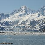 View of the Stunning Johns Hopkins Glacier, in Nearby Glacier Bay