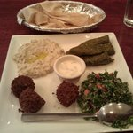 Veggie Combo - the baba ghanouj is the best I've tasted