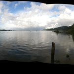a panorama from the dock