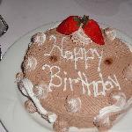 Happy Birthday cake the staff surprised my husband