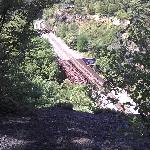 Train tracks running into Nay Aug tunnel