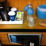Coffee/water/safe
