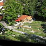 Ausblick auf Kurpark mit Minigolf