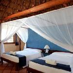 interior cabañas dos camas