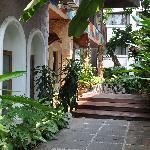 Der Hoteleingang