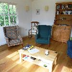 Inside the summerhouse