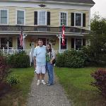 Barry and I infront of the Inn