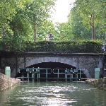 About to enter a lock and the underground canal
