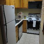 Kitchen in Rm 174-  stove, microwave, fridge, dishwasher, toaster, and come with dishes, etc