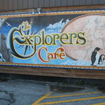 Painted Mural outside Explorers Cafe Midland