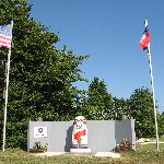 le monument de Patton et des soldats us
