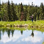 Fly-Fishing on the ranchs private ponds