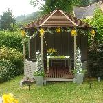 The gazebo in the Hotel grounds where we were married