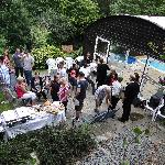 The eveing before the wedding ceremony, close family and friends enjoyed a BBQ and Pool party.