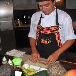 Chef preparing a wonderful meal