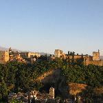 La Alhambra al atardecer
