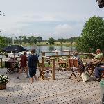 The small bar cafe at the marina