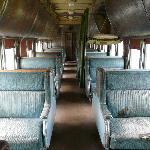 Inside passenger car